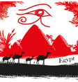 egypt symbols and pyramids vector image