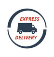 express delivery icon on white background vector image
