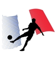 france soccer player against national flag vector image vector image