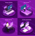 futuristic education design concept vector image vector image