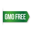 GMO free sign ribbon vector image
