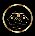 Gold houses icon vector image vector image