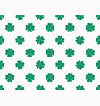 green clover leaves on white background seamless vector image vector image
