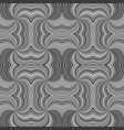 grey seamless abstract psychedelic spiral stripe vector image vector image