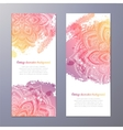 Invitation with hand drawn mandala vector image vector image