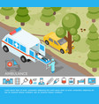 isometric medical help concept vector image vector image