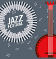 jazz festival instruments vector image