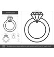 jewelry engagement ring line icon vector image