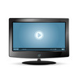 lcd monitor video player vector image