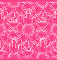 lotus abstract pink seamless pattern vector image vector image