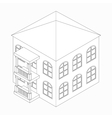 Low-rise building icon isometric 3d style vector image vector image