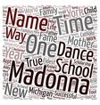 Madonna The Idol text background wordcloud concept vector image vector image
