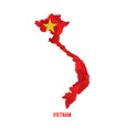 Map of Vietnam vector image vector image