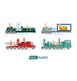 oil industry with transport vehicles vector image