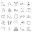 present icons set outline style vector image vector image