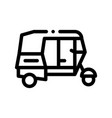 public transport rickshaw thin line icon vector image vector image