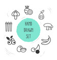 set of berry icons line style symbols with vector image vector image