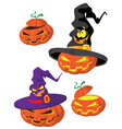 set of Halloween pumpkin vector image vector image