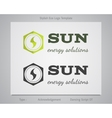 Sun - energy solutions logo template for eco vector image vector image