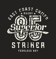 Superior striker emblem in retro style vector image vector image