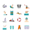 Swimming Icons Set vector image