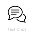 text chat message icon editable line vector image vector image