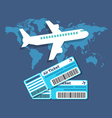 Traveling Ticket booking concept Flat design vector image