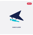 two color hang glider icon from free time concept vector image vector image