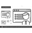 User interface line icon vector image vector image