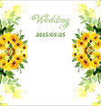 Watercolor card with flowers sunflower vector image vector image