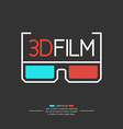 3D filme logo with glasses vector image