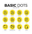file flat icons set vector image