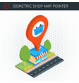 isometric shop building vector image