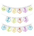 2013 design bunting flags vector image vector image