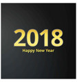 2018 and new year yellow typography banner with vector image