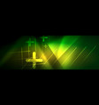 abstract neon glowing light background dark vector image