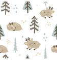 adorable deers pattern vector image vector image
