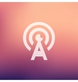 Antenna in flat style icon vector image