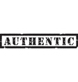 Authentic black stamp vector image vector image
