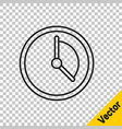 black line time management icon isolated on vector image vector image