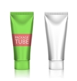 Blank Cosmetics Packages Tube Template vector image vector image