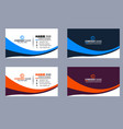 blue black red white business card vector image vector image