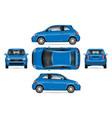 blue mini car vector image vector image