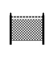 boundary fence with barbed wire border protection vector image vector image