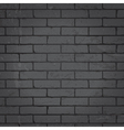 Brick wall dark gray background vector image