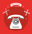 call center telephone contacts tools vector image vector image