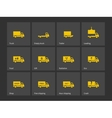 Cargo delivery trucks icons vector image
