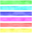 Colored banner background set vector image vector image
