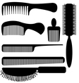comb silhouette vector image vector image
