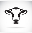 cow head design on white background farm vector image vector image